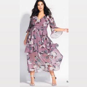 NWOT City Chic Plus Size Floral-Print Maxi Dress